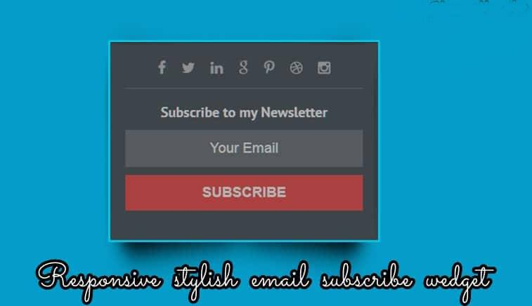 Stylish Email Subscribe Widget For Blogger Website