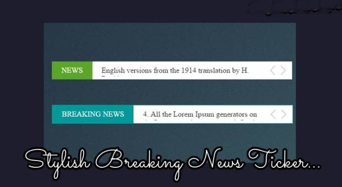 stylish breaking news ticker for website