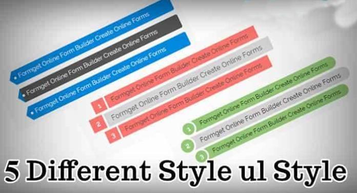 css ul list style
