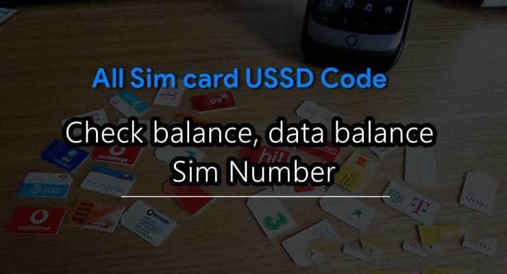 All Sim Card Ussd Codes List In Hindi