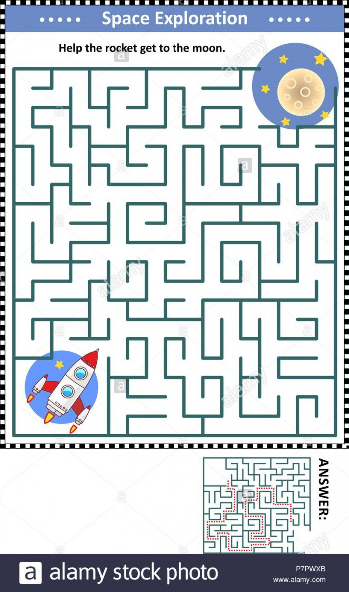 hight resolution of Spaceship Maze Worksheets   99Worksheets