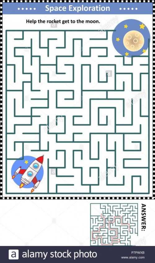 small resolution of Spaceship Maze Worksheets   99Worksheets