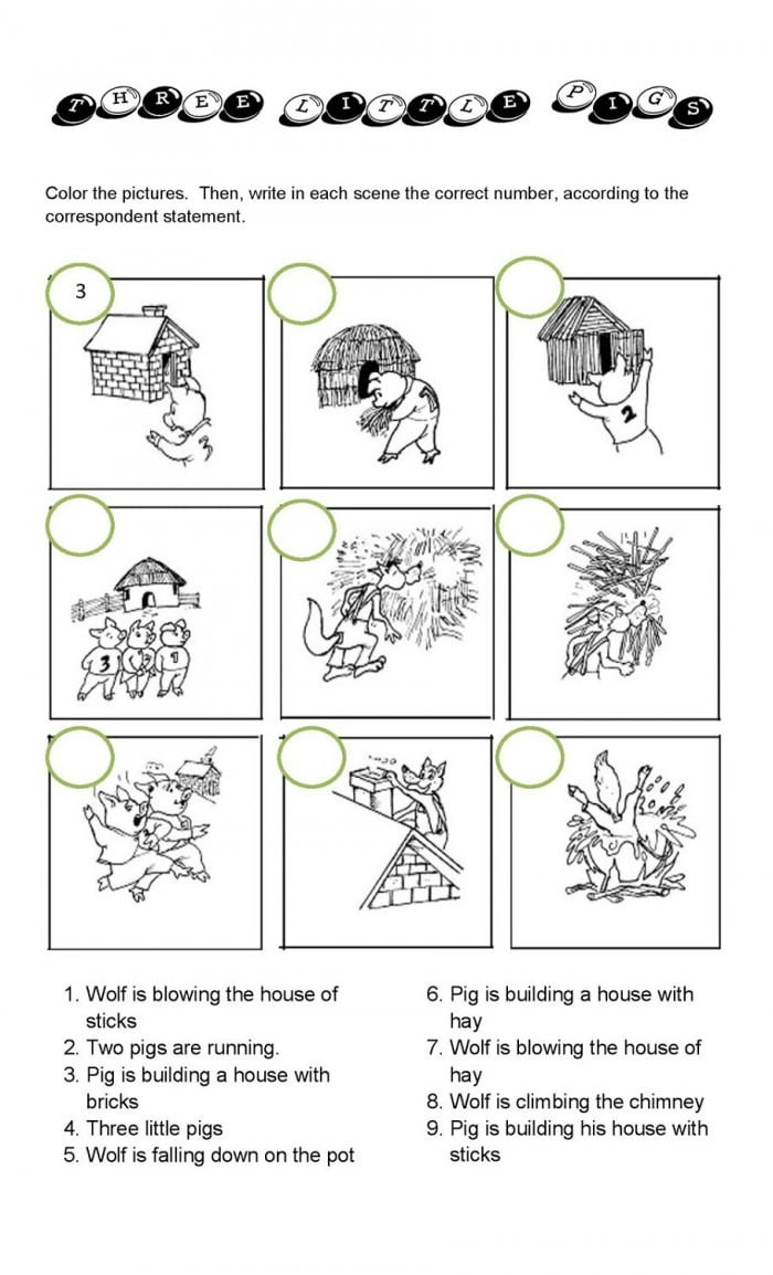 medium resolution of The Three Little Pigs Worksheets   99Worksheets