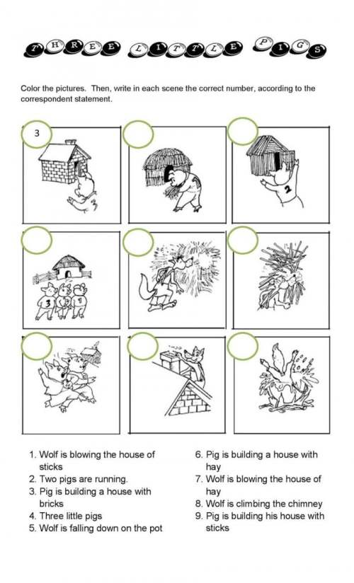 small resolution of The Three Little Pigs Worksheets   99Worksheets