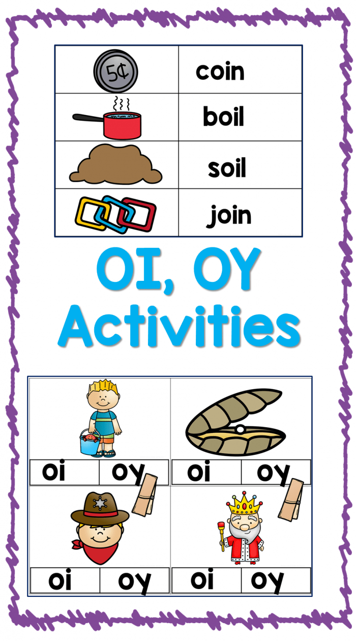 "hight resolution of Vowel Diphthongs: ""Oy"" Worksheets   99Worksheets"