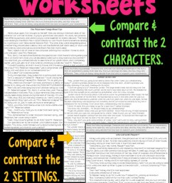 Compare And Contrast Supporting Characters Worksheets   99Worksheets [ 1208 x 700 Pixel ]