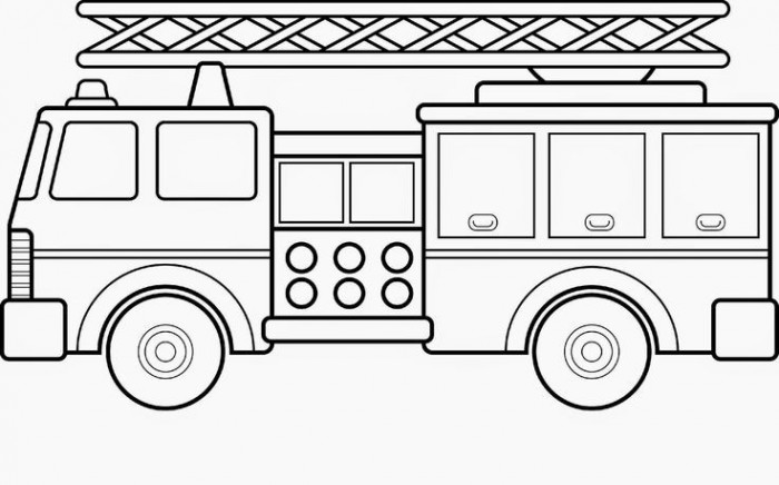 Fire Truck Coloring Page Worksheets 99worksheets