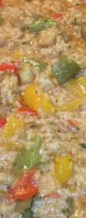 Bijeli rizoto od povrca - tijekom pripreme
