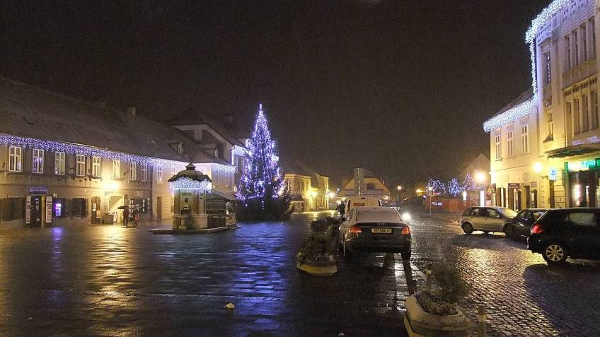 Holiday Ambience on King Tomislav's Square at Samobor, Croatia