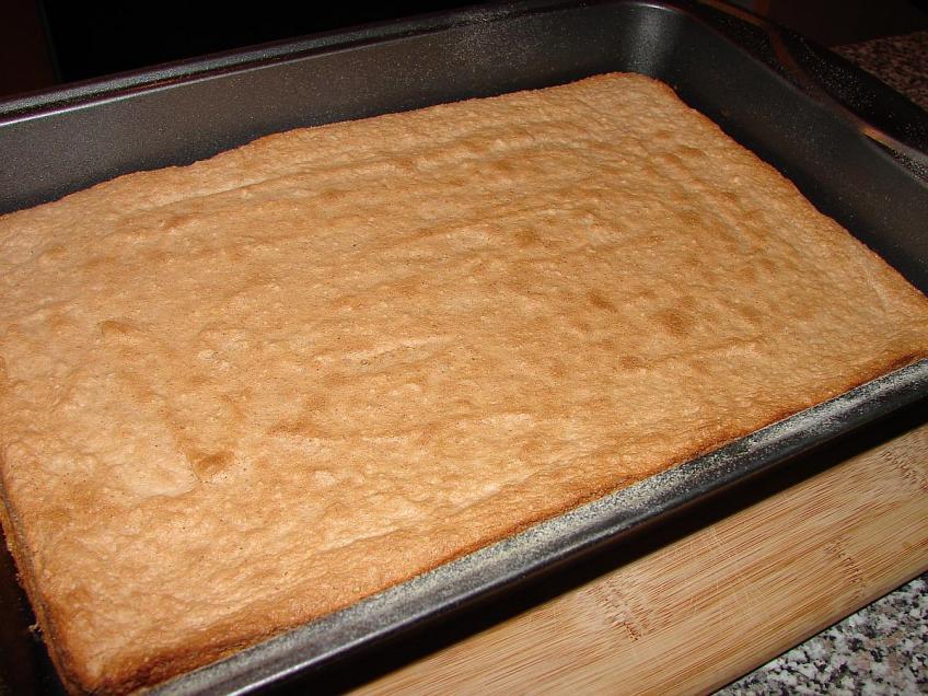Šumska vila - prvi sloj-pečeni biskvit