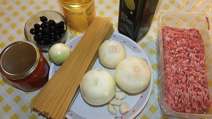 Spaghetti bolognese - sastojci