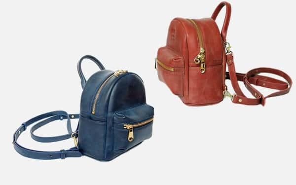 กระเป๋าเป้หนังแท้ สำหรับผู้หญิง