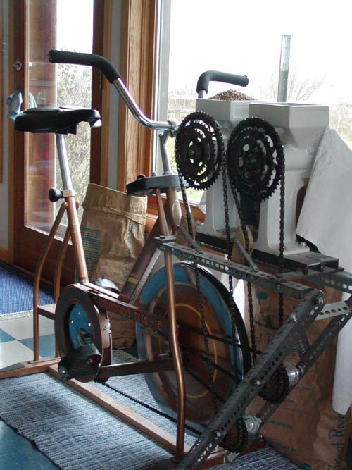 Exercise Bike with Country Living Grain Mill 9G Health Foods