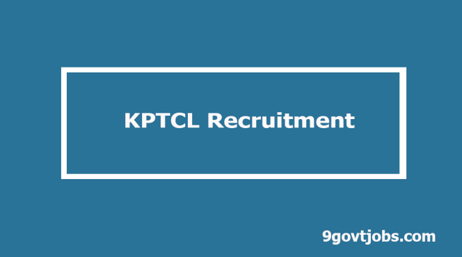 KPTCL Recruitment