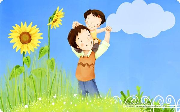 韩国父亲节插画主题壁纸_1680x1050点击浏览下一张:韩国父亲节插画主题壁纸