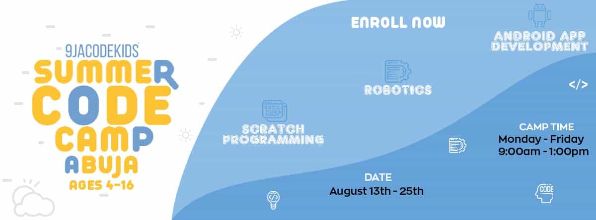 Abuja Summer Coding Camp for kids ages 4 to 16 years