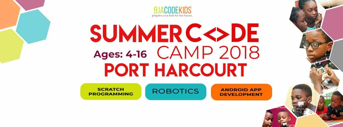 summer code camp for kids ages 4 to 16 years in Port Harcourt
