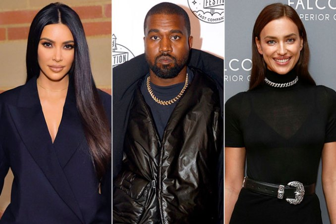 Kim Kardashian K West Irina Shayk