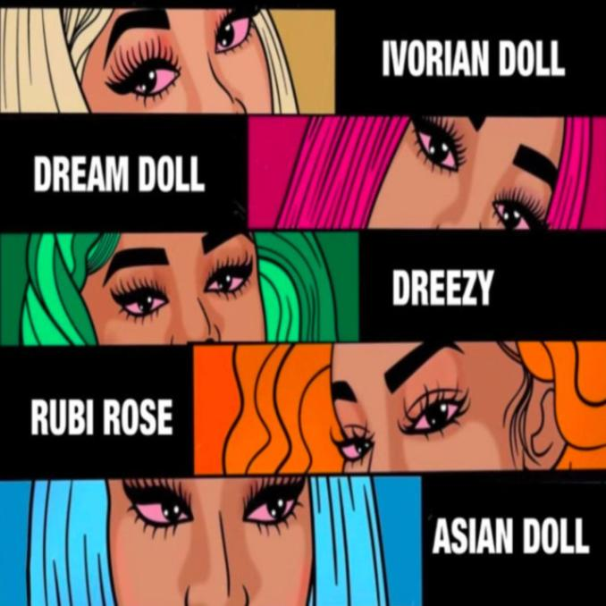 Asian Doll Nunnadet Shit Remix ft. Rubi Rose Dreezy DreamDoll Ivorian Doll
