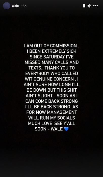 wale ig stories
