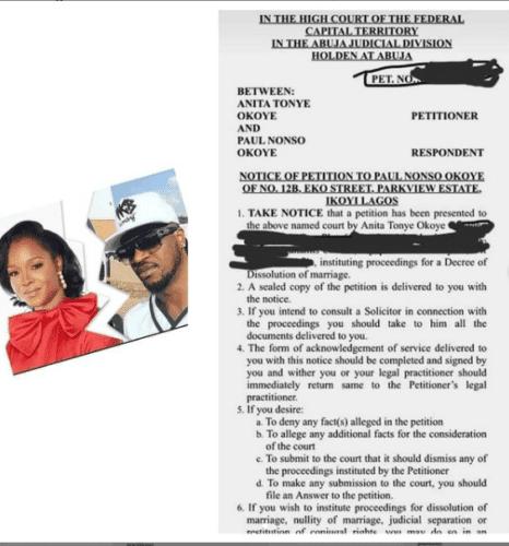 Paul Okoye Divorce
