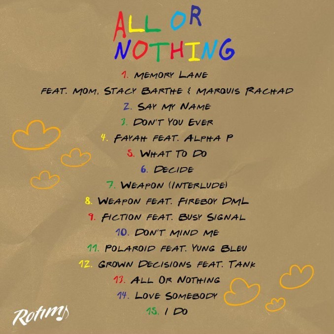 Rotimi All Or Nothing Album