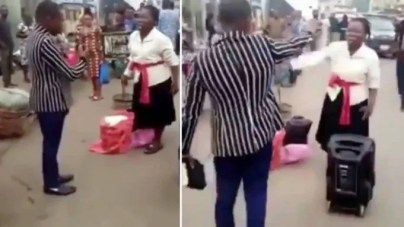 Awful: Nigerian Preachers fight over preaching space in Lagos (video)