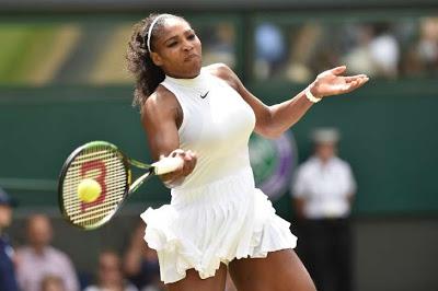 Serena reaches 300-win milestone in Wimbledon romp
