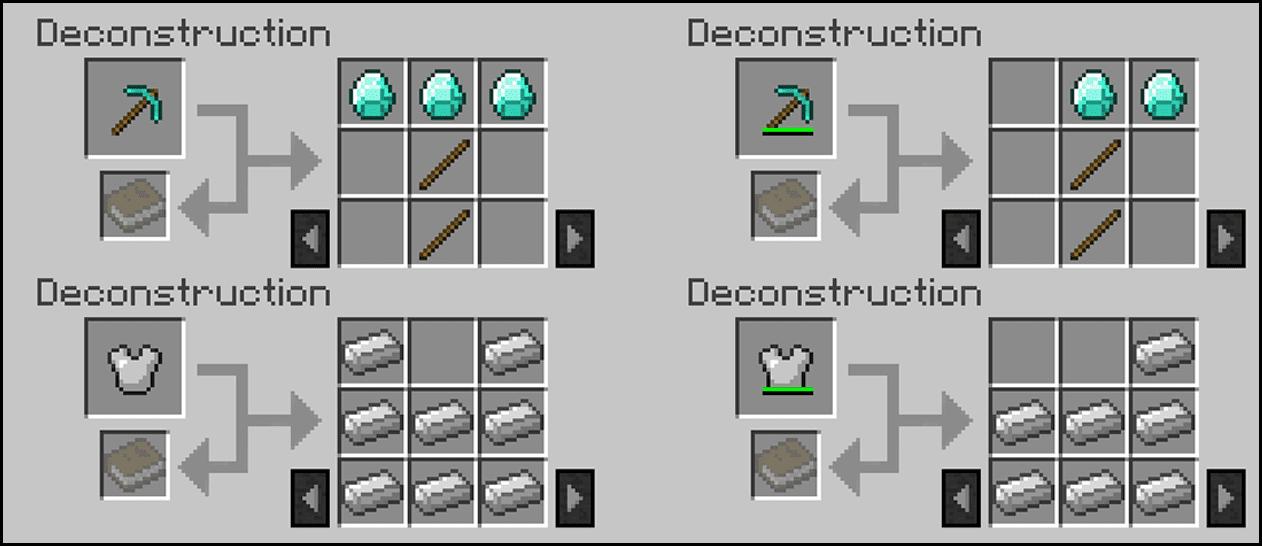 Deconstruction Table Mod 1.12.2/1.10.2 (Uncraft Minecraft