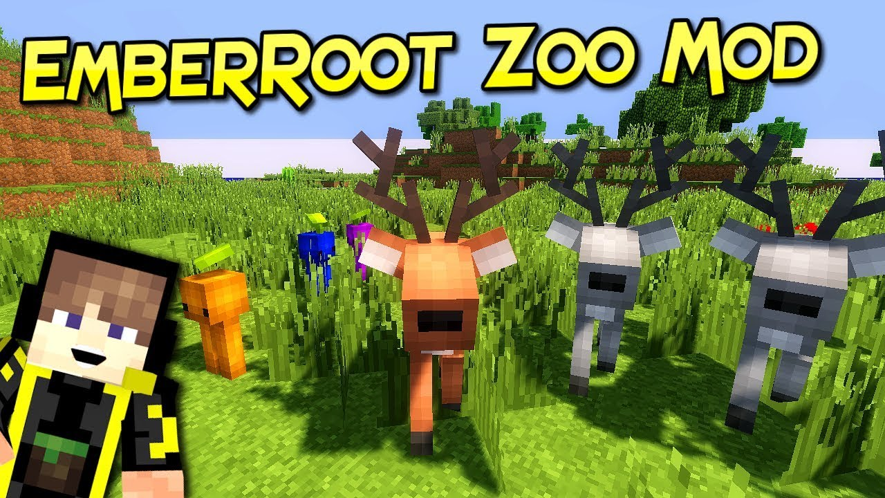 EmberRoot Zoo Mod 1.12.2 (Various Monsters for Adventure