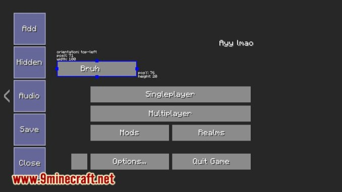 FancyMenu mod for minecraft 06