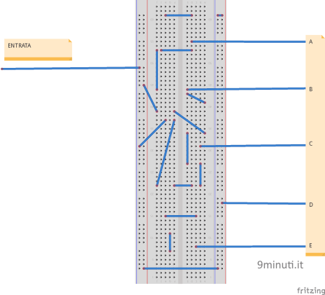 Eserzio breadboard con Arduino