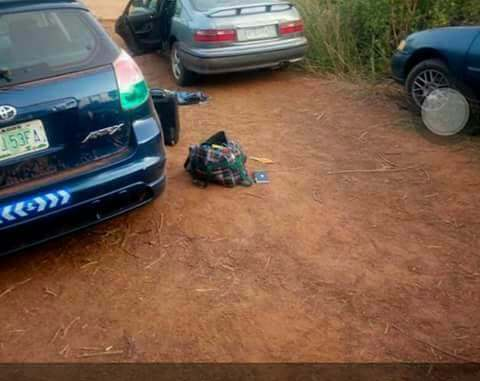 Image result for See The Vehicles Used By Armed Robbers To Escape The Offa Bank Robbery In Kwara (Photos)