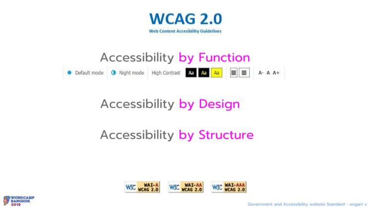WCBKK 2018 - Gov Web and Accessibility Standard 10