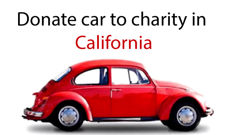 donate car to charity in California