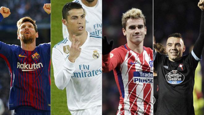 Calendar Year Top Scorers : Laliga s top scorers in only messi and ronaldo