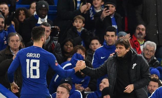 Olivier Giroud praises Antonio Conte