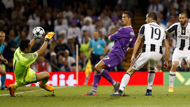 c6d9fb5f16c Juventus goalkeeper Gianluigi Buffon insisted that Cristiano Ronaldo ought  to be considered in the same bracket as iconic duo Pele and Diego Maradona
