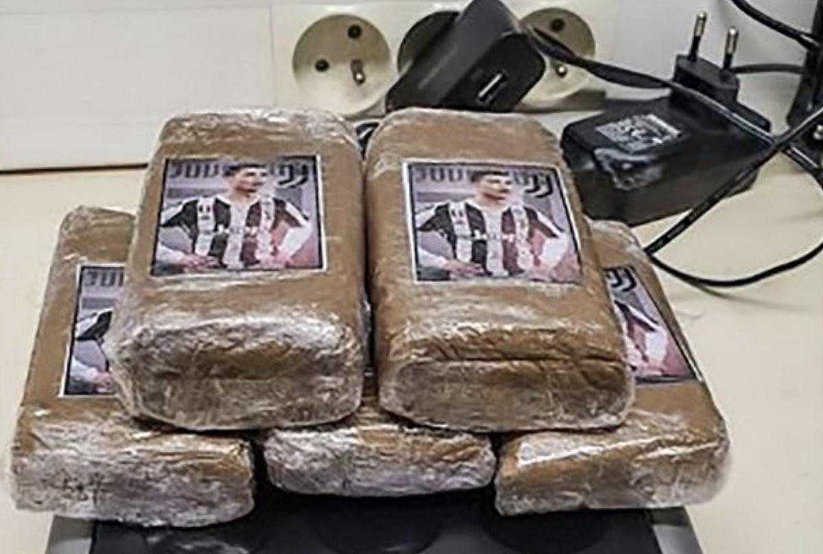 Police seize drugs with Ronaldo's face emblazoned on during cocaine raid