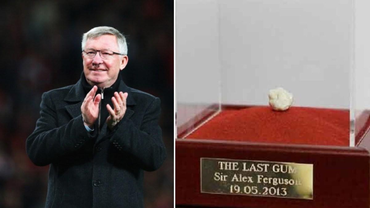 Fan sells Sir Ferguson's final match chewing gum online for £390,000