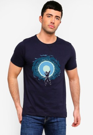 buy goku spirit bomb navy blue tshirt only on 9tails apparels