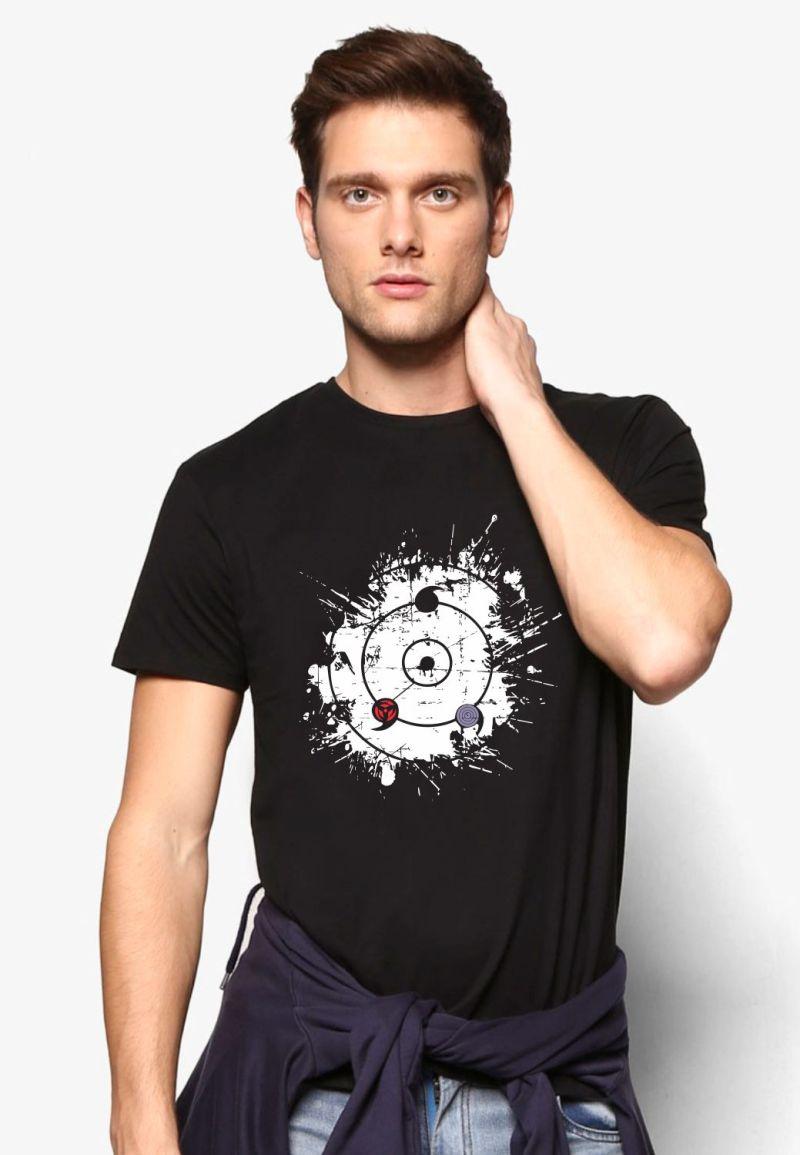 buy mangekyo rineegan sharinagn eye black tshirt only on 9tails apparels
