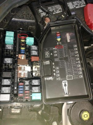 Fuse diagram does not match with fuses