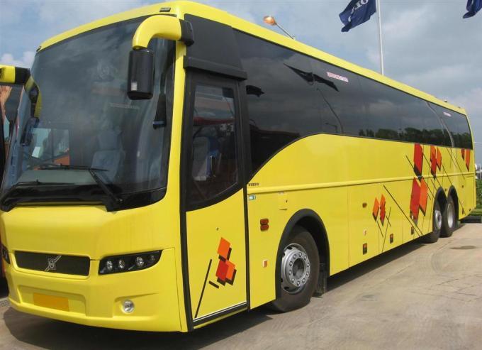 Yellow Volvo Bus Hd Wallpaper