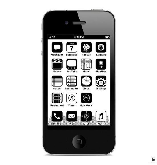 iOS '86 concept theme for iphone