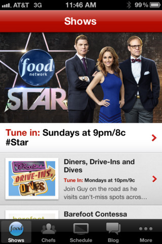food network iphone