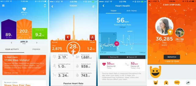 Jawbone Up Fitness app