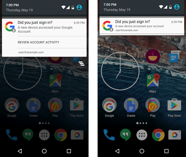Google started notifying Android users when any new device is added to their account