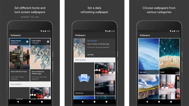 Google Released Its Official Wallpapers Application 9to5net