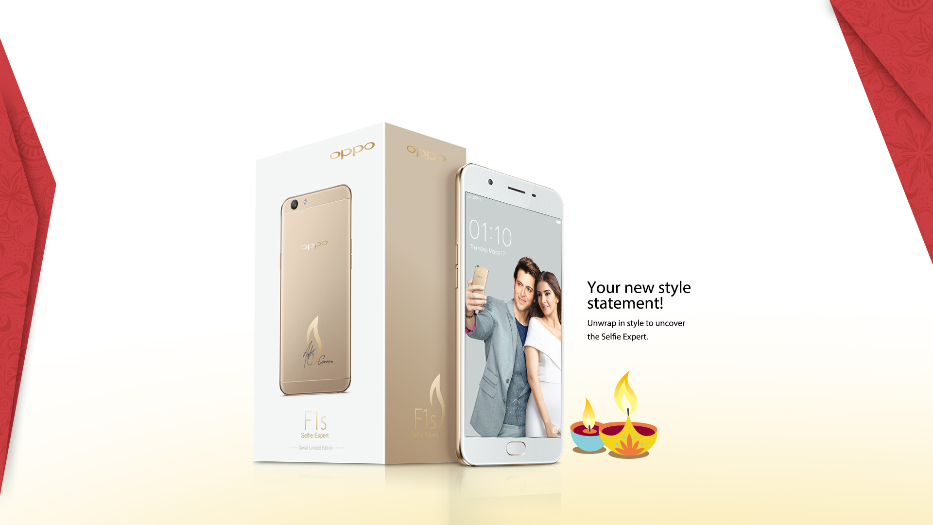 Oppo F1s Diwali Limited Edition Smartphone Signed By Sonam Kapoor New